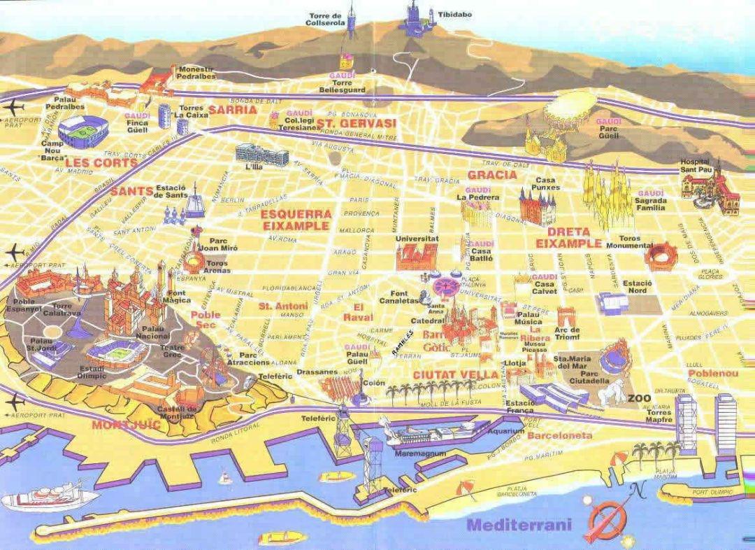 Carte Barcelone Montserrat.Private Tour Barcelona And Montserrat Transfer Soberti